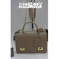 96 borsa pelle meshok tasche sac handbag bolso bag pochette beige 9600190030