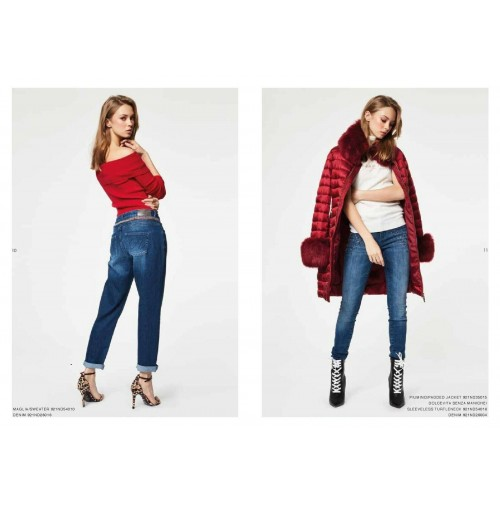 Denny Rose Jeans outlet -50% 921ND35015 cappotto Autunno 2019 disponibile