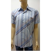 Outlet -50% 32 camicia uomo chemise camisa shirt 100% cotone 3300010029