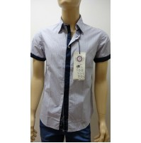 Outlet - 50%  32 camicia uomo chemise camisa shirt 100% cotone slim  3300640024