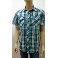 Outlet - 50% 32 camicia uomo chemise camisa shirt 100% cotone slim 3300800036