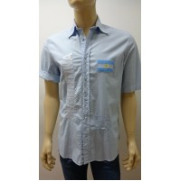 Outlet -50% 32 camicia uomo chemise camisa shrt cotone 3200010012