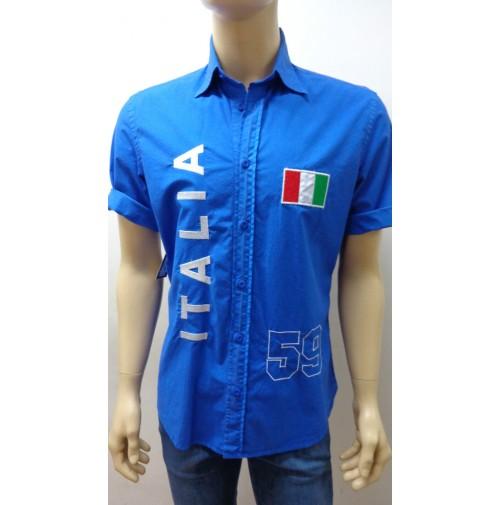Outlet -50% 32 camicia uomo chemise camisa shrt cotone elasticizzato 3200010012