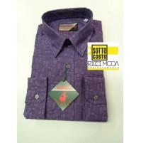 Outlet -50% Camicia uomo  shirt chemise camisa hemd rubashka viola 3200540050