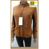 Outlet -50% donna capi in pelle giaccha jacketa woman chaqueta mujer 1200860001