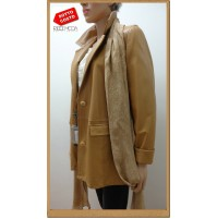 Outlet  donna capi in pelle giaccha jacketa woman chaqueta mujer  ves 120001008
