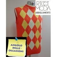 Outlet maglia uomo gilet chalecos waistcoats westen  zhilet  arancio 370810057